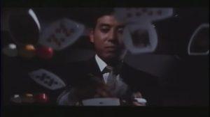 Akechi Kogoro plays cards