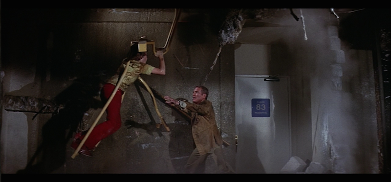 Paul Newman and Mike Lookinland in The Towering Inferno