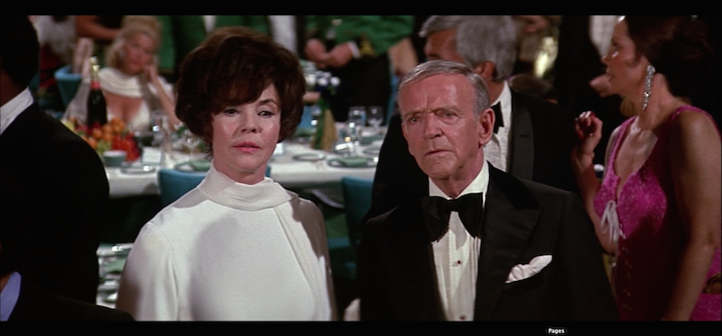 Jennifer Jones and Fred Astaire in Towering Inferno